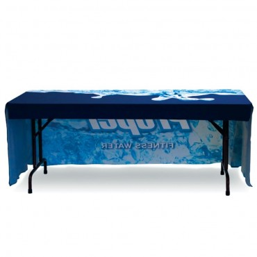 Custom Printed Table Throw 6' Economy Open Back