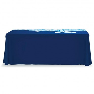 Custom Printed Table Throw 6' Standard Closed Back