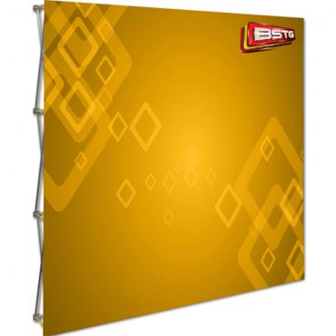 8' Eco Fabric Hopup Display (No Endcaps) - Left