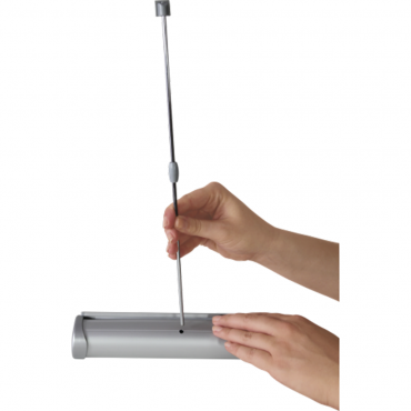 """Breeze Retractable Table Display (11"""" x 17"""") - Pole in Base"""