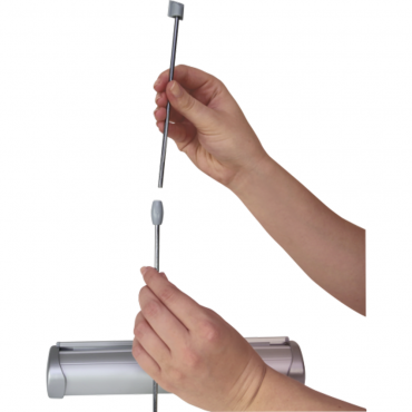 """Breeze Retractable Table Display (11"""" x 17"""") - Pole Assembly"""