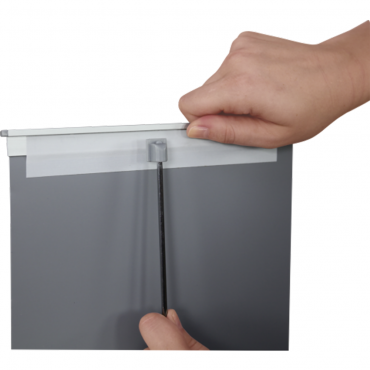 """Breeze Retractable Table Display (8.5"""" x 11"""") - Top Tail"""