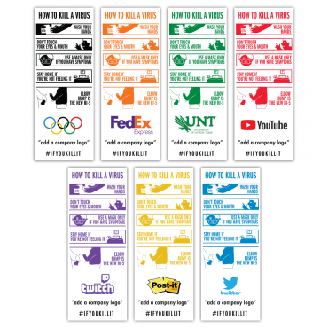 COVID-19 Infographic Econom-X Graphic Package - Color Options