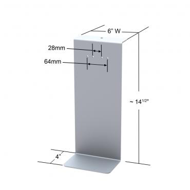 Hand Sanitizer Dispenser Stand - Backplate