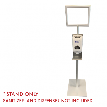 "Hand Sanitizer Dispenser Stand - 8.5"" x 11"" Sign Holder"