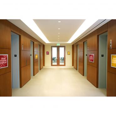 "Snap Poster Display (8.5""x11"") - Elevator"