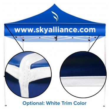 10 x 10 Optional White Graphic Trim Color