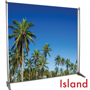 Video Backdrop Graphic Package - Island