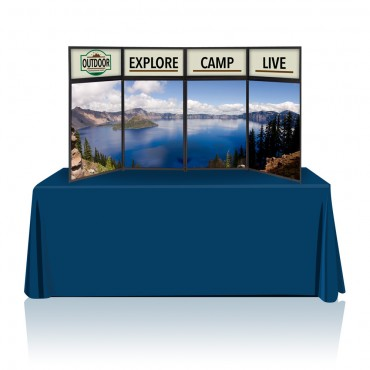 Tabletop Panel Display 8ft Graphic Package (Black/Gray)